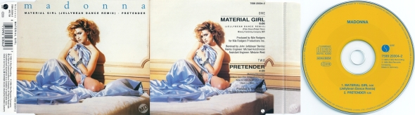 madonna material girl cd single