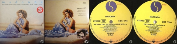 madonna material girl single 12 pulgadas francia alemania