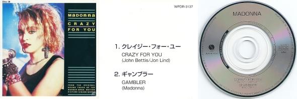 madonna crazy for you cd single 3 pulgadas japon