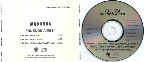 madonna buenos aires promo cd usa 1