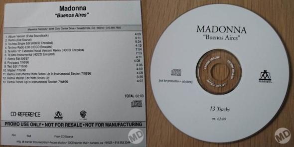 madonna buenos aires promo cd usa 2