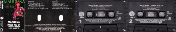 madonna dress you up cassette single canada