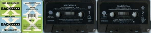 madonna into the groove cassette single usa