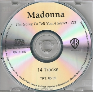 madonna im going to tell you a secret cd promo