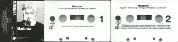 madonna madonna album cassette USA
