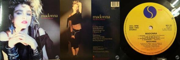madonna the first album LP UK