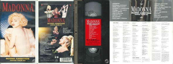 madonna blond ambition japan tour 90 VHS japon