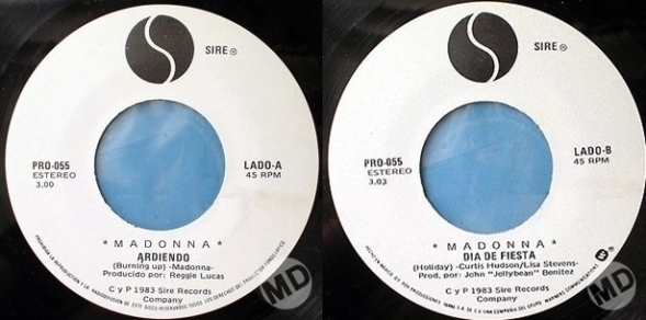 madonna burning up promo single 7 pulgadas mexico