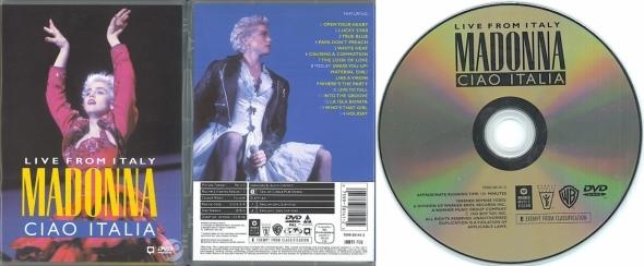 madonna ciao italia live from italy DVD germany