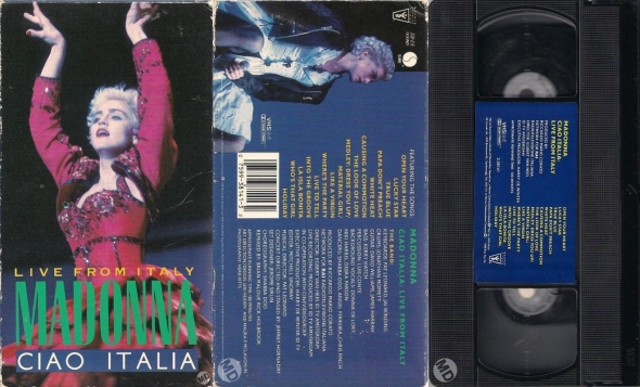 madonna ciao italia live from italy vhs