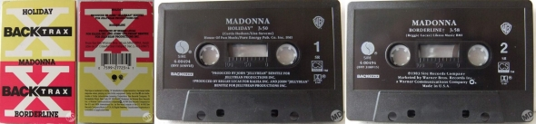 madonna holiday cassette single back trax USA