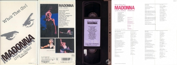 madonna whos that girl live from japan vhs