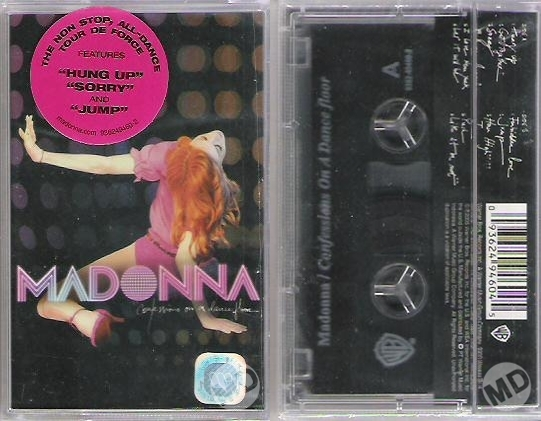 madonna confessions on a dance floor cassette indonesia