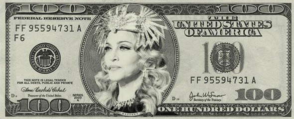madonna 100 dollars
