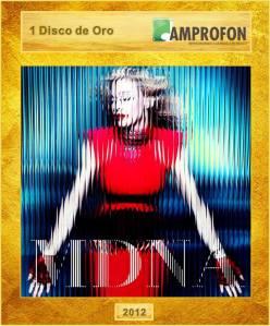 madonna MDNA AMPROFON disco de oro