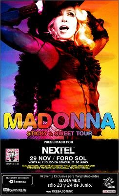 madonna sticky & sweet poster tour 2008 mexico