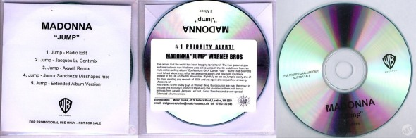 madonna jump promo cd single UK 5